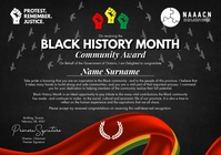 Black History Month Award 2021 Template A4