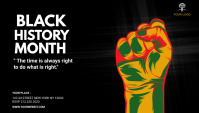 Black History Month Blog Header template
