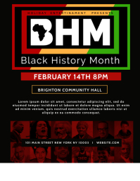 Black History Month Cultural Event Flyer