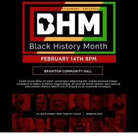 Black History Month Cultural Event Flyer