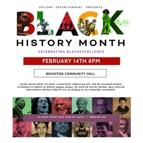 Black History Month Cultural Event Flyer Message Instagram template