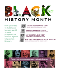Black History Month Cultural Event Schedule P