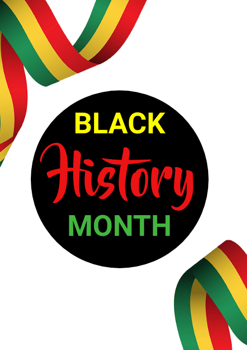 Black history month A3 template