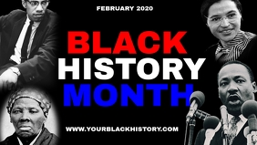 BLACK HISTORY MONTH Facebook-covervideo (16:9) template