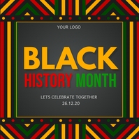 black history month Instagram-opslag template