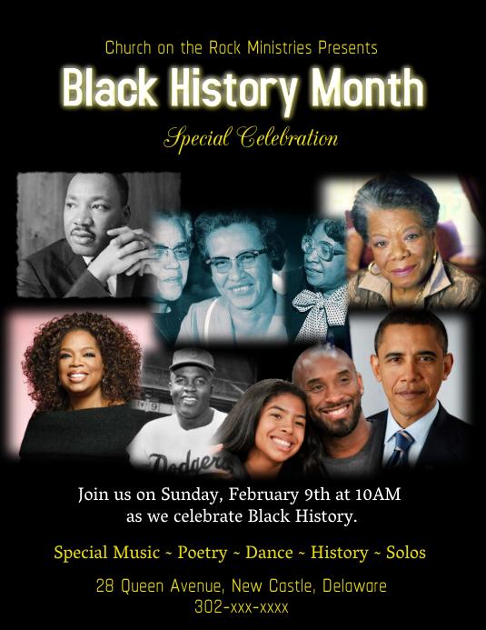Black History Month Folder (US Letter) template