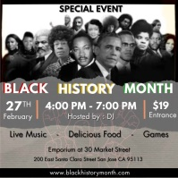 black history month Square (1:1) template