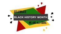 Black History Month Digitalt display (16:9) template