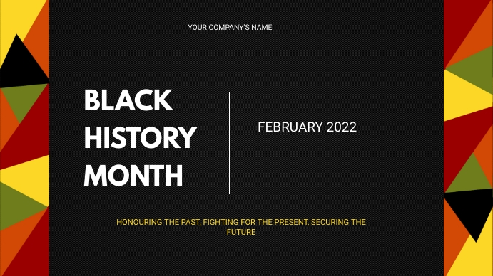 Black History Month Twitch Banner template
