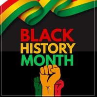 Black history month Vierkant (1:1) template