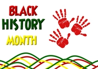 Black History Month Postcard template