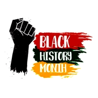 BLACK HISTORY MONTH Logo template