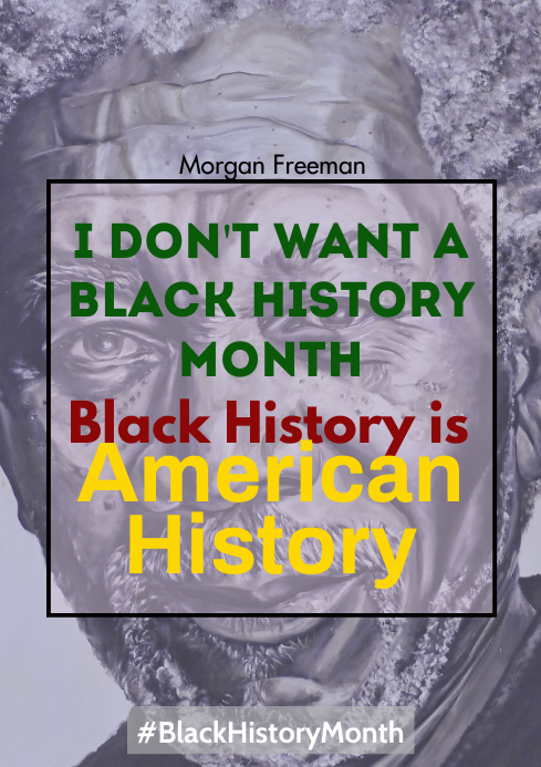 Black History Month A4 template