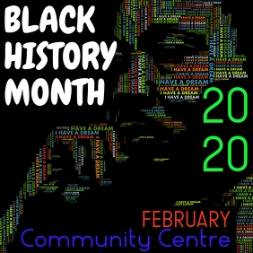 black history month Instagram Post template