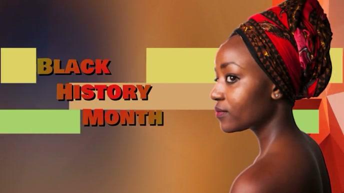 black history month Digitalt display (16:9) template