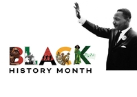 Black History Month ไปรษณียบัตร template