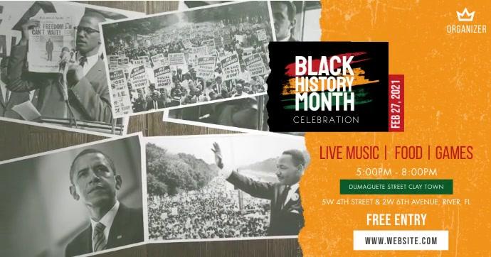 Black History Month delt Facebook-billede template