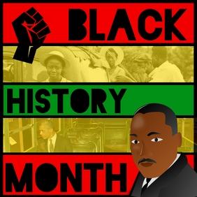 Black History Month โพสต์บน Instagram template