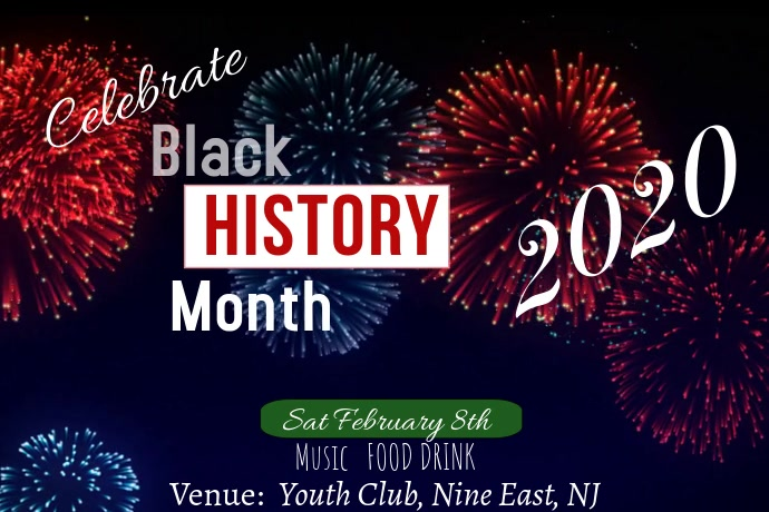 Black History Month Affiche template