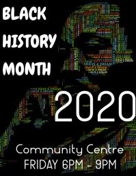 Black history month Flyer (US Letter) template