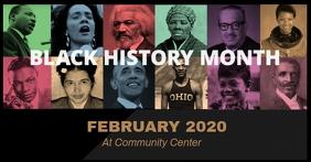 Black History Month Image partagée Facebook template