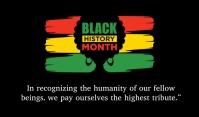 Black History Month Merker template