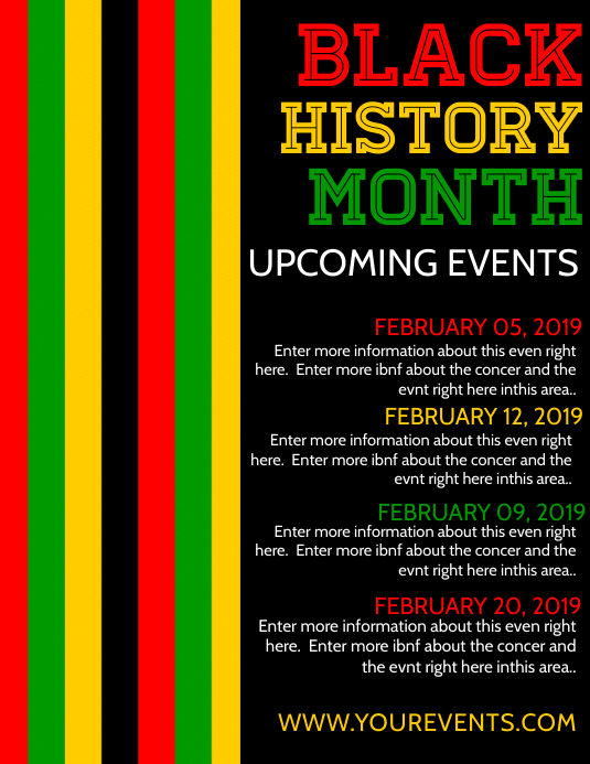 Copy Of Black History Month Postermywall