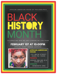 Black History Month Ulotka (US Letter) template