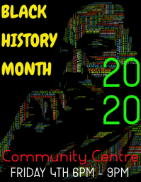 black history month Volante (Carta US) template