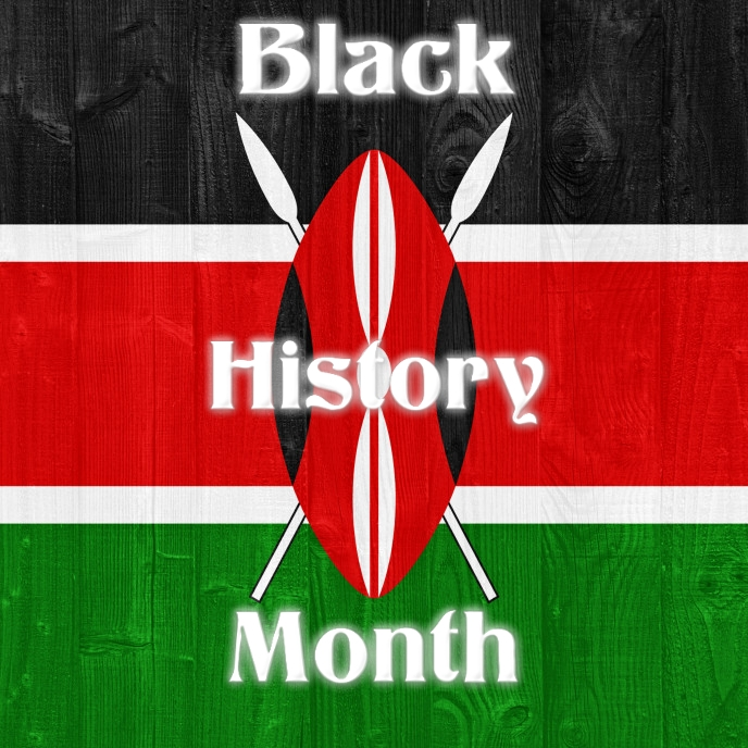 Black History Month Album Omslag template