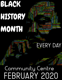 black history month 传单(美国信函) template