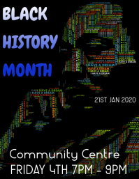 Black history month ใบปลิว (US Letter) template