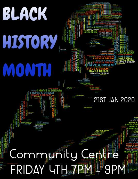 Black history month Iflaya (Incwadi ye-US) template