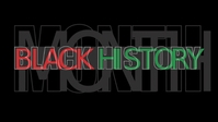 Black History Month Facebook-omslagvideo (16: 9) template