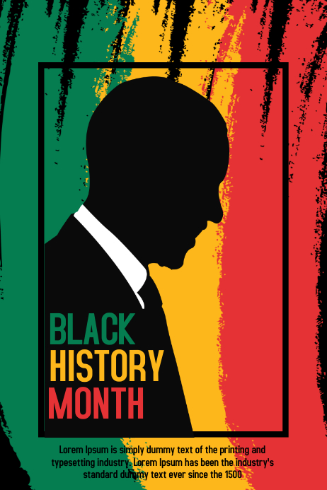 Black history month Banner 4' × 6' template