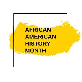 Black history month Kwadrat (1:1) template
