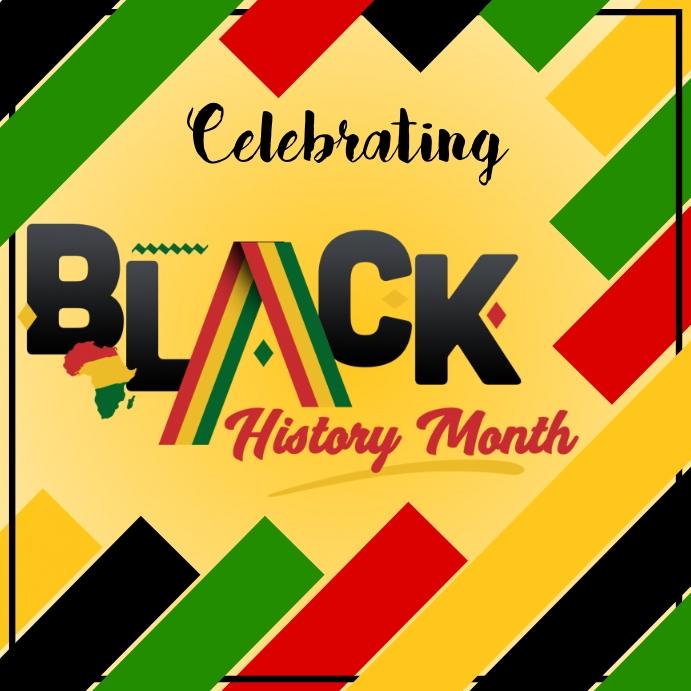 Black History Month Instagram-opslag template