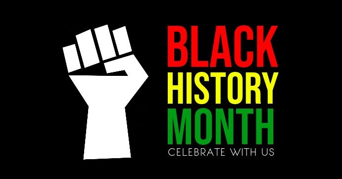 Black history month Facebook-gebeurtenisomslag template