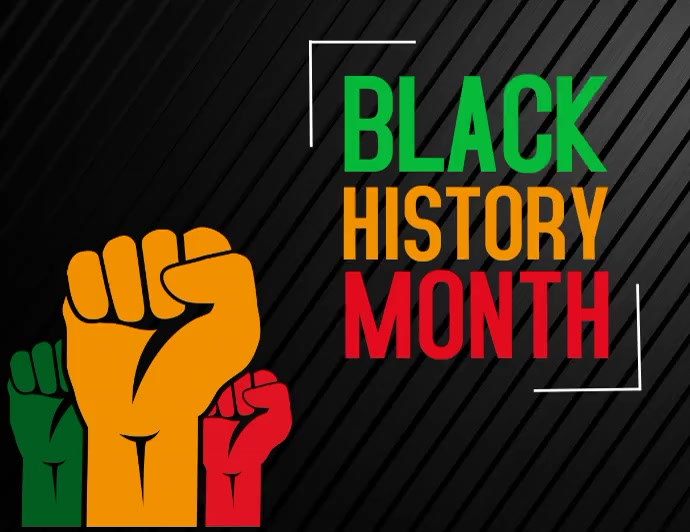 black history month Pamflet (Letter AS) template