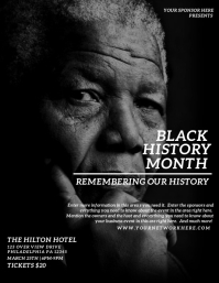 BLACK HISTORY MONTH Flyer (US Letter) template