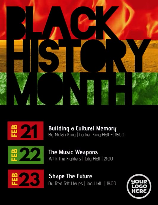 Black History Month Event Flyer Volante (Carta US) template