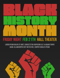 Black History Month event flyer template