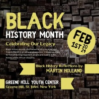 Black History Month Event Instagram Video Square (1:1) template