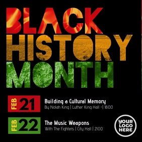 Black History Month Event Post
