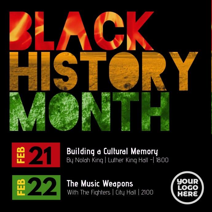 Black History Month Event Post Instagram Plasing template