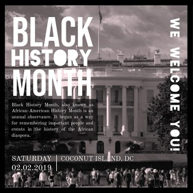 Black History Month Event Square Video