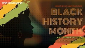 Black History Month Event Video Template Digitalt display (16:9)