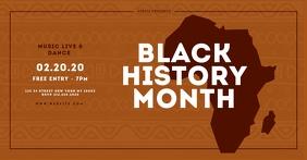 Black History Month facebook Template delt Facebook-billede