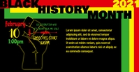 Black History Month FB Facebook Event Cover template