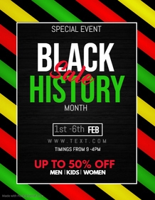 Black history month flyer,event flyers